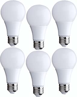 Bioluz LED 60 Watt Light Bulb, LED Light Bulbs 60 Watt Replacement, Uses Only 9 Watts, Warm White, Non-Dimmable, A19 LED Light Bulb, 6-pack