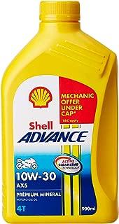 Shell Advance AX5 550031343 10W-30 API SL Mineral Motorbike Engine Oil (900 ml)