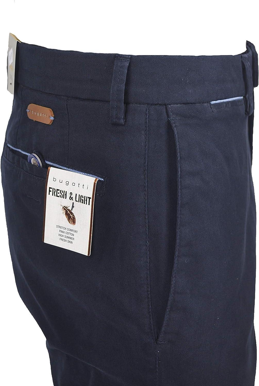 bugatti 36241 Pantalon Stretch 390 Blu