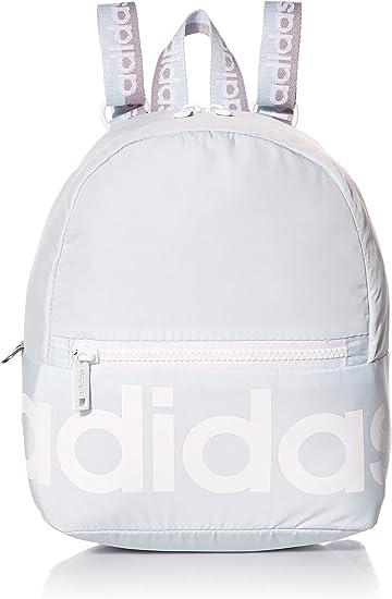 adidas Linear Mini Backpack, Sky Tint/White/Glory Grey, One Size