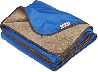 XL Plush Fleece Outdoor Stadium Rainproof and Windproof Picnic Blanket – Camp Blanket (Blue)