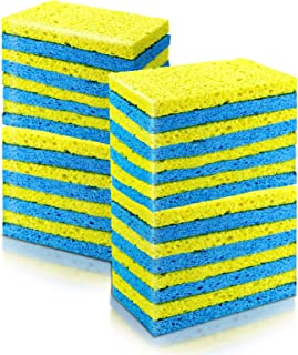 Cleaning Scrub Sponges 16 Pcs Magic Non-Scratch Multi-Use Dish Wash Sponges Cleaning Power for Kitchen Bathroom Walls Car ...