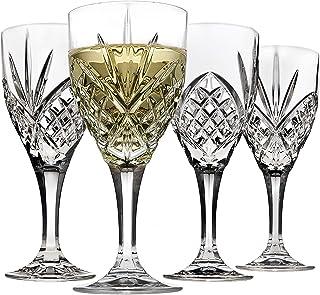 Godinger Dublin Wine Glasses, Stemmed White Wine Glass Goblets - 6.75oz, Set of 4