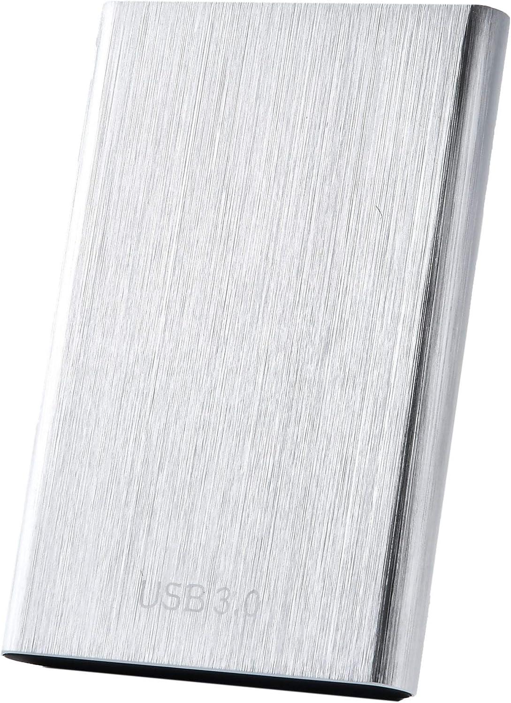 External Hard Drive,1TB 2TB 3.5TB Portable Hard Drive External Type-C USB 3.0 for PC, Laptop and Mac (2TB Silver)
