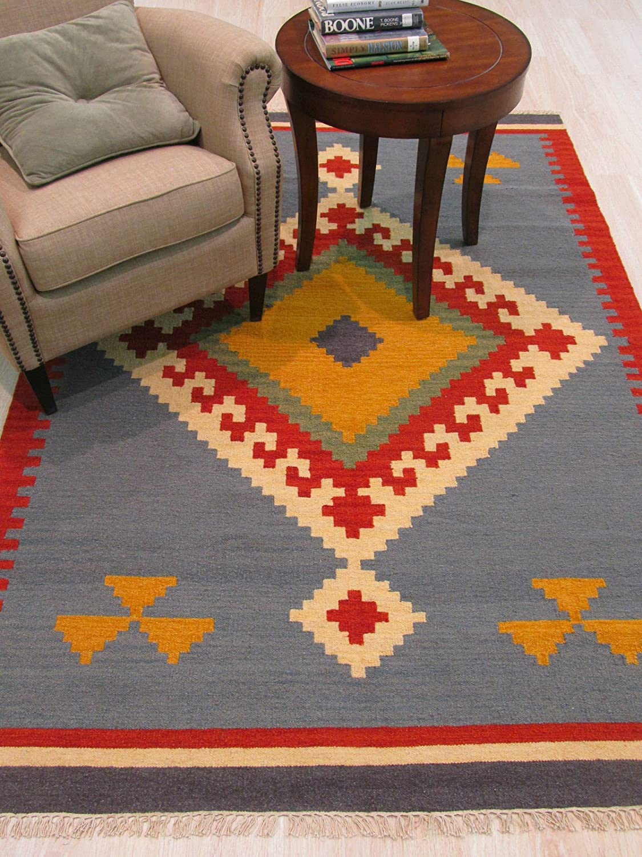 EORC DN6MU Handmade Wool Keysari Max 41% OFF by Rug 8-Feet 100% quality warranty! Kilim 5