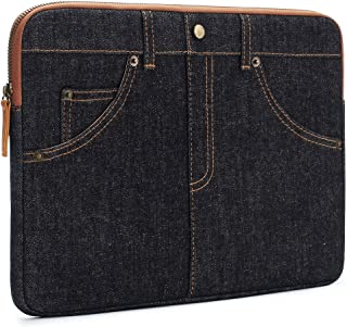 DOMISO 13 Inch Laptop sleeve Case Unique 5-Pockets Jeans Notebook Computer Bag Tablet Pouch Skin Cover for 13