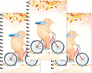 ESCAPER Bear on Cycle Designer Diaries (Ruled - A5 Size - SUPER SAVER Pack of 3 Diaries)   Slogan Diary   Quotes on Diary