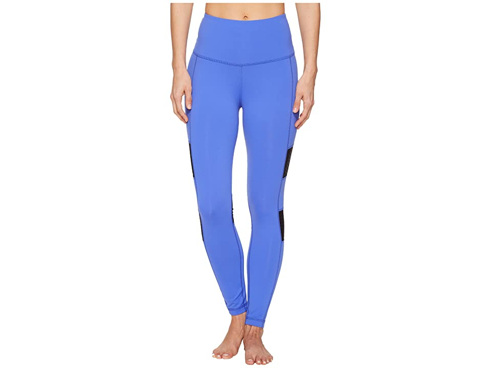 Reebok High-Rise Mesh Tights (Acid Blue) Women