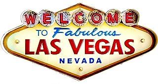 Poster Las Vegas Vintage Enseigne Métallique lumineux artesanías Accessoire Décoration Maison Welcome Travel Nevada
