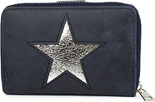 styleBREAKER Monedero con Motivo Recortado de Estrella en óptica metálica o de Lentejuelas, Cremallera, Cartera, señora 02...