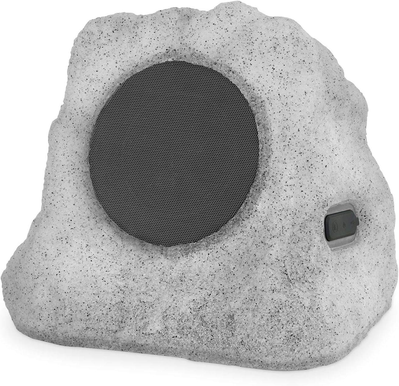 Victrola Outdoor LED Lightup Rock Speaker Single - Wireless Bluetooth Speaker for Garden, Patio | Waterproof Design, Built for All Seasons | Rechargeable Battery | Wireless Music Streaming