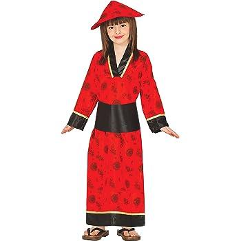 Guirca- Disfraz china roja, Talla 3-4 años (83280.0): Amazon.es ...