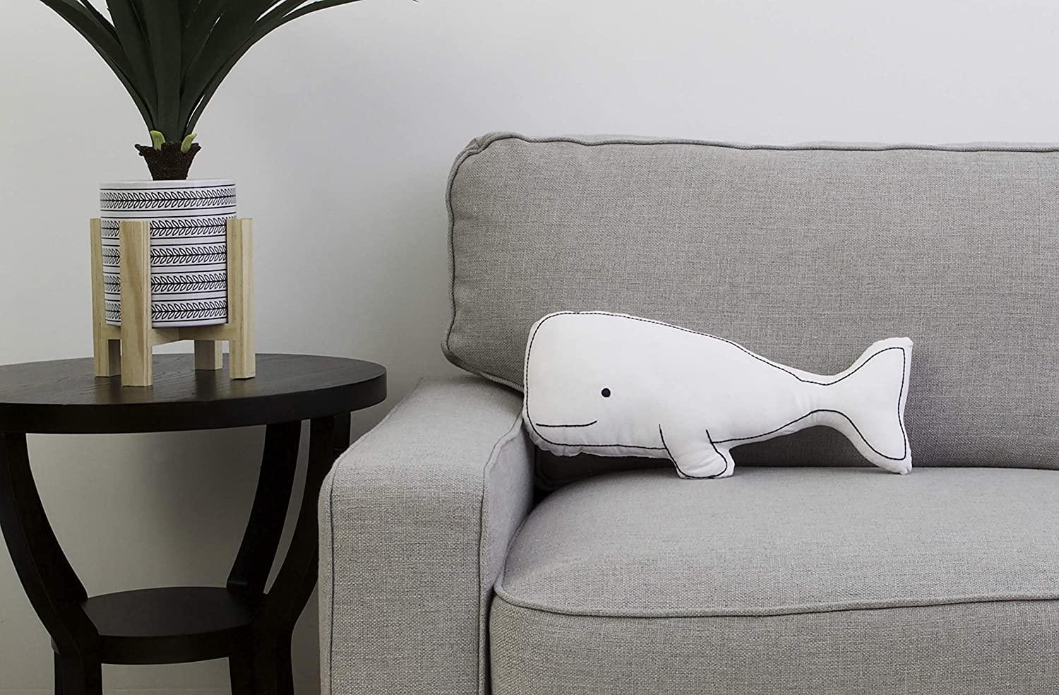 Thro by Marlo Lorenz TH007322008E Wally Whale Shaped Throw Pillow Navy
