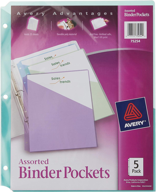 Avery Binder Superior Pockets Assorted Colors Acid-Free Direct sale of manufacturer x Du 8.5