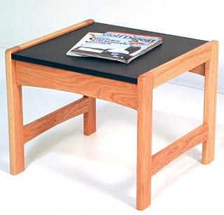 طاولة خشبية مع مظهر جرانيت أسود