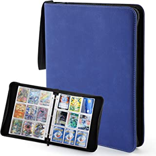 Blue Baseball Card Binder with Sleeves 720 Pockets, Trading Card Sports Card Protector Binder Holder Compatible with Pokem...