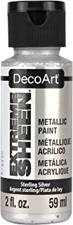 Artdeco DecoArt Americana–Extreme Brillo Tarro de Pintura, acrílico, Plata, 3,5x 3,5x 10cm