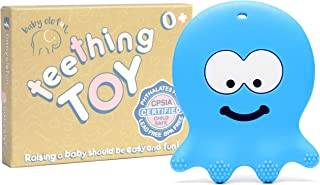 Teething Toys for Boys - BPA Free Silicone - Easy to Hold, Soft, Bendable, Highly Effective Octopus Teether, Best for Freezer, Cool 3 6 12 Months 1 Year Old