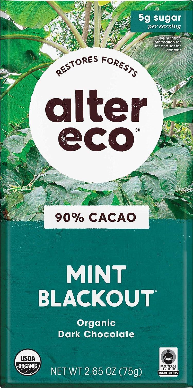 Alter Eco Chocolate Bars Pure Fair Cocoa Organi Trade Dark 5 ☆ Direct store very popular