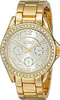 Women's XO178 Rhinestone-Accented Gold-Tone Watch