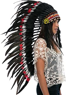 Adjustable! Long Native American Indian Style Headdress | Many Colors