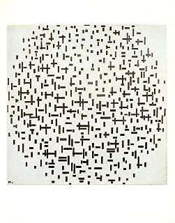 """1970 Vintage MONDRIAN /""""COMPOSITION COLOR PLANES W// GRAY/"""" COLOR offset Lithograph"""