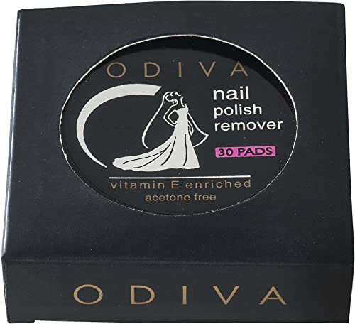 Odiva Nail Polish Remover Wipes Round (Pack of 30 Pads)
