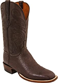 Men's Handmade Lance Smooth Ostrich Horseman Boot Square Toe - Cl1014.W8
