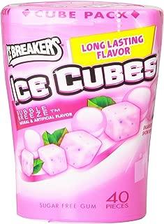 Ice Breakers Ice Cubes Sugar-Free Gum, 40-Piece Bottle Pack, Bubble Breeze (4 Bottles)