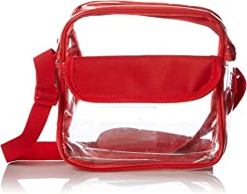 Clear Purse Stadium Approved for NFL & NCAA, Transparent Cross-body Bag see-thru