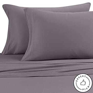 Pure Beech Jersey Knit Modal King Sheet Set in Charcoal