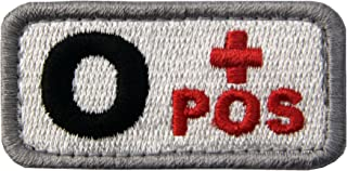 EmbTao Type O Positive Tactical Blood Type Fastener Hook&Loop Patch - Black & Red - 2