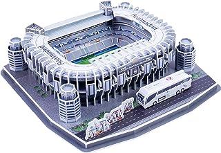 Calistouk Rompecabezas Tridimensional 3D mundialmente Campo de fútbol 2019 Rompecabezas para niños Chicos DIY Hechizo Insertar Juguete (Estadio Santiago Bernabéu(España))