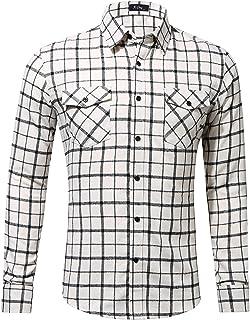 Heren geruit overhemd met contrasterende kleur Mode revers Dagelijks woon-werkverkeer Casual Comfortabele stiksels Zak Nor...