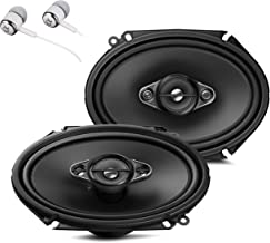 """Pioneer TS-A6880F 6"""" x 8"""" 350 Watts Max Power A-Series 4-Way Car Audio Coaxial Speakers Pair with Fiber Cone Midrange / FR... photo"""