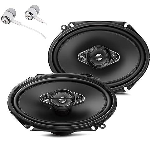 Pyle PLSL5702 180W 5x7 inch//6x8 inch 2 Way Slim Mount Coaxial Speakers