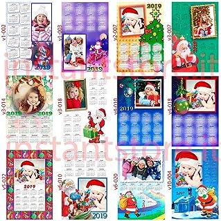 Calendario con tema natalizio personalizzato a3-a4 idea regalo Natale