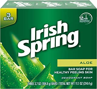 Irish Spring Deodorant Soap, Aloe, 3 x 106.3g