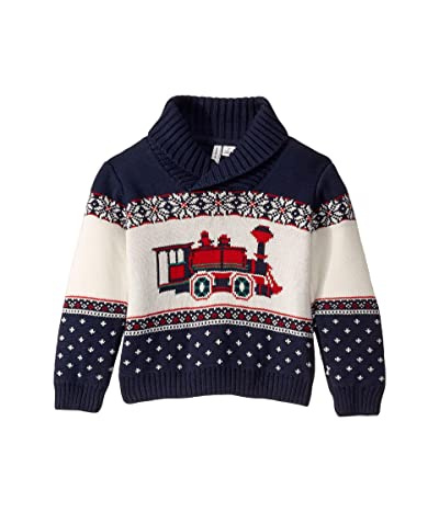 Janie and Jack Shawl Collar Pullover Sweater (Little Kids/Big Kids) (Navy) Boy