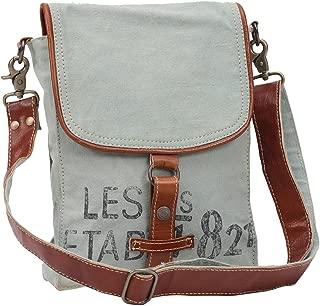 Myra Bags 821 Upcycled Canvas Crossbody Bag M-0914
