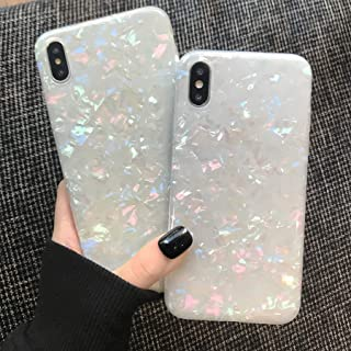 MANLENO iPhone X Case,iPhone Xs Case for Girls Women, iPhone X Cover Case Luxury Design Flexible Bling Colorful Pearly Lustre TPU Silicone Case for Apple iPhone X Xs 5.8