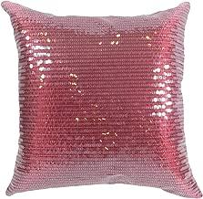 "Decorative Transparent Sequins Floral Throw Pillow COVER 18"" Burgundy"