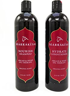 Marrakesh Original Shampoo + Conditioner Combo Set with Hemp and Argan Oils, Suitable for Both Men and Women