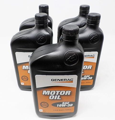 Generac 5-Pack 0J5139 SAE 10W-30 4-Cycle Engine Oil Quart