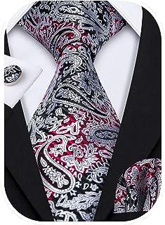 Details about  /Men Champagne Paisley Silk Necktie Pocket Square Handkerchief Set Lot HZTIE0069
