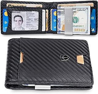 Mens Wallet Money Clip PHOENIX Front Pocket Wallet Slim Wallet RFID Bifold Credit Card Holder Gifts for Men
