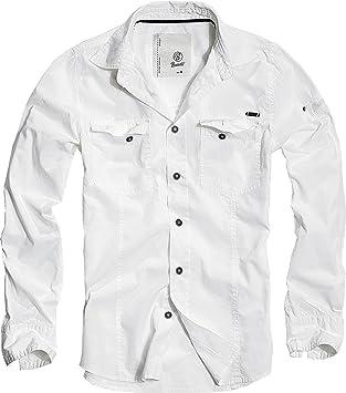 Brandit Hombres SlimFit Camisa Blanco