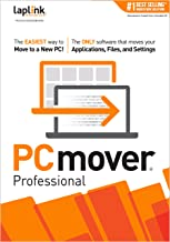 Laplink PCmover Professional | Instant Download | Single Use License | Moves Applications, Files, and Settings to Your New PC