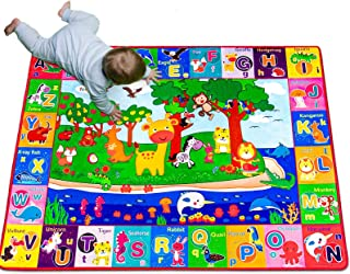 teytoy Baby Cotton Play Mat, Playmat Baby Crawling Mat for Floor Baby Mat Large Super Soft Extra Thick (0.6cm), Plush Surf...