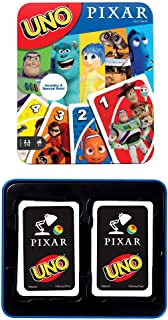 UNO Pixar 25th Anniversary Card Game with 112 Cards & Instructions in Storage Tin for Players 7 Years & Older, Gift for Kid, Family & Adult Game Night